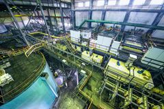 Industrial interior of factory Royalty Free Stock Photo