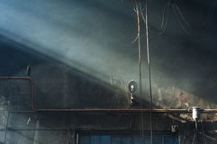 Industrial Interior. Factory interior with light coming in. Foundry Stock Photography