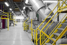 Industrial interior of a generic power plant Stock Photos
