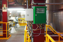 Industrial interior of a generic power plant Stock Photo