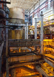 Industrial interior of heat power plant. Royalty Free Stock Image