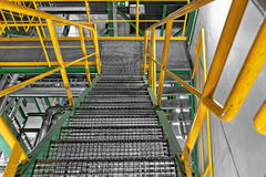 Industrial Interior with large staircase Royalty Free Stock Photo