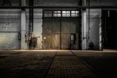 Industrial Interior Of An Old Factory Royalty Free Stock Photos