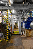 Industrial interior of a power plant Royalty Free Stock Images