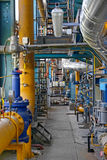 Industrial interior of a power plant Stock Image