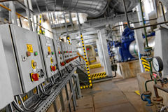 Industrial interior of a power plant Stock Photography