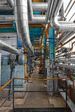 Industrial interior of a power plant Stock Photos