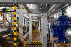 Industrial interior of a power plant Stock Photo
