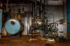 Industrial interior with storage tank Royalty Free Stock Photography