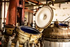 Industrial interior with storage tank Royalty Free Stock Photo