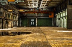 Industrial interior of a factory Stock Images