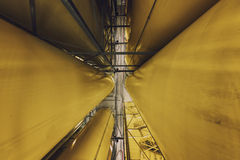 Industrial interior with welded silos Stock Images