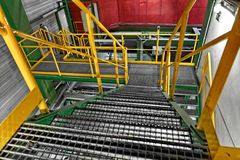 Free Industrial Interior With Large Staircase Royalty Free Stock Photography - 31454517