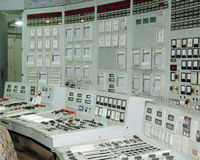 Industrial interiors, power plant Stock Photo