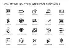 Industrial internet of things  icon set Royalty Free Stock Photography