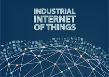Industrial internet of things  illustration background. Royalty Free Stock Photography