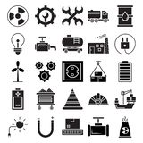 Industrial Isolated Vector Icons that can be easily modified or editIndustrial Isolated Vector Icons that can be easily modified o royalty free illustration