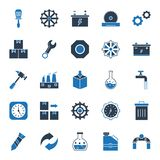 Industrial Isolated Vector Icons that can be easily modified or edit stock illustration