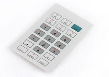 Industrial keyboard. Rugged industrial keyboard in 3/4 view stock images