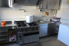 industrial KITCHEN with big gas stove Stock Photo