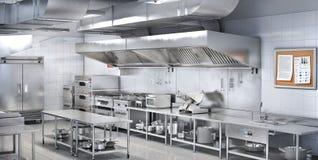 Industrial kitchen. Restaurant kitchen. 3d illustration vector illustration