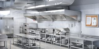 Free Industrial Kitchen. Restaurant Kitchen Royalty Free Stock Photo - 138824015