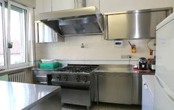 Free Industrial Kitchen With Stainless Steel Cookers Stock Images - 102984774