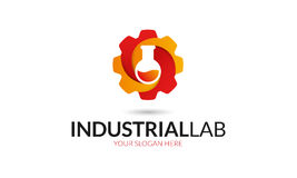 Industrial Lab Logo. Minimalist and modern gear lab logo template. Simple work and adjusted to suit your needs Stock Photos