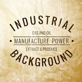 Industrial label. Royalty Free Stock Images