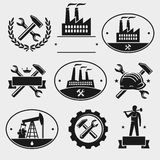 Industrial label set. Vector. Refinery, illustration, label royalty free illustration