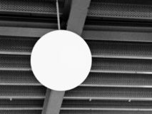 Industrial lamb and metal structure. Black and white. royalty free stock photo