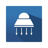 Industrial lamp icon Stock Photography