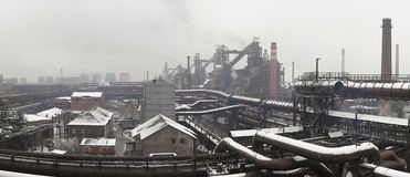 Industrial landscape Stock Photography