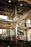 Industrial landscape: abandoned ruins Stock Photos