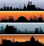 Industrial Landscape Banners Stock Images