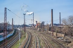 Industrial landscape in central Ukraine Royalty Free Stock Photos