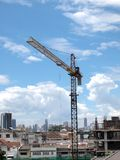 Industrial landscape with cranes Stock Photography
