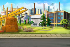 Industrial landscape. Royalty Free Stock Image