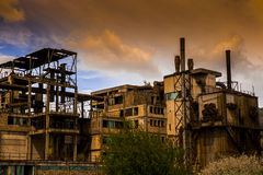 Industrial landscape. Manufacture Royalty Free Stock Photos