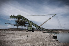 Industrial landscape of mine machine Stock Photo