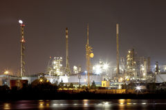 Industrial landscape by night Stock Photography