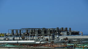 Industrial landscape. Oil refinery Stock Photography