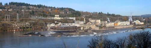 Industrial Landscape Oregon City, OR. Royalty Free Stock Image