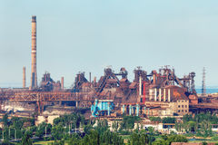 Industrial landscape. Steel factory. Heavy industry in Europe Stock Images