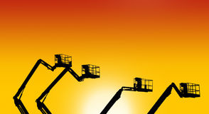 Industrial landscape at sunset Royalty Free Stock Photo