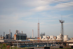Industrial landscape. At sunset in Kazan Royalty Free Stock Images