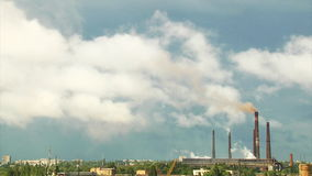 Industrial landscape time lapse Royalty Free Stock Images