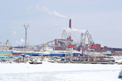 Industrial landscape in Kotka Royalty Free Stock Photo