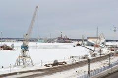 Industrial landscape in Kotka Stock Images