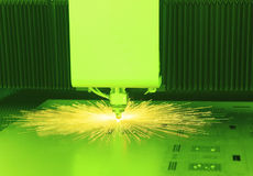 Industrial laser cutter Stock Image